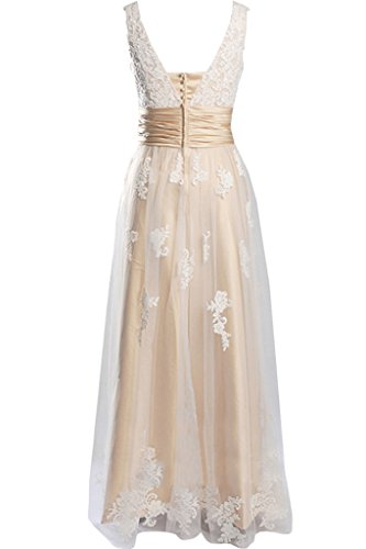 Romantisch Satin Spitze Hochzeitskleider Traeger Brautkleider Gruen Lang Bride Blau Tuell Gorgeous Abendkleider wIq5fx7