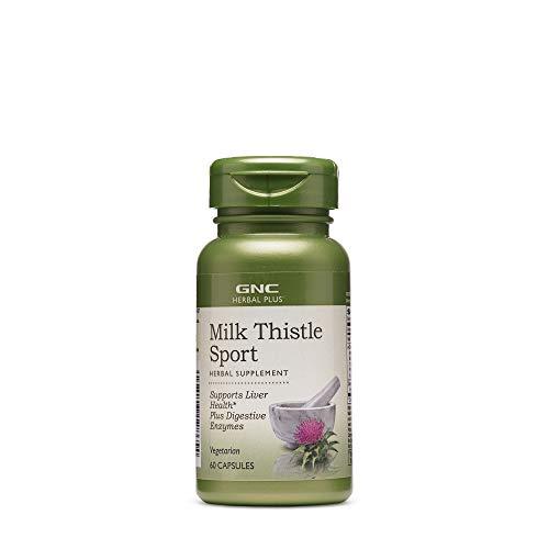 GNC Herbal Plus Milk Thistle Sport, 60 Capsules, Supports Liver Health (Gnc Health Liver)