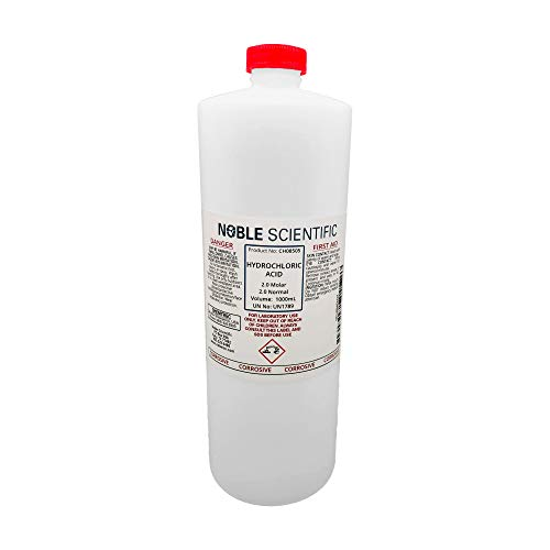 Hydrochloric Acid Solution, 2.0N (2.0M), 1000mL, by Noble Scientific