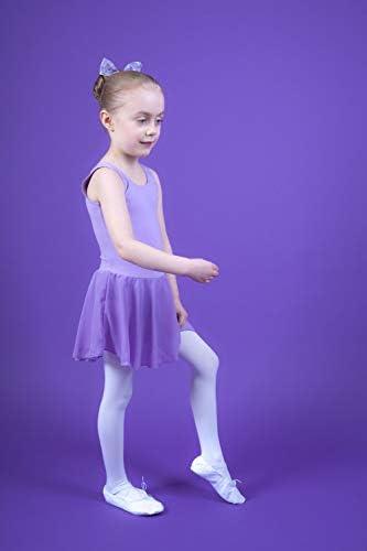 aus weicher Baumwolle mit Chiffonr/öckchen tanzmuster /® Ballettkleid M/ädchen /ärmellos Bella