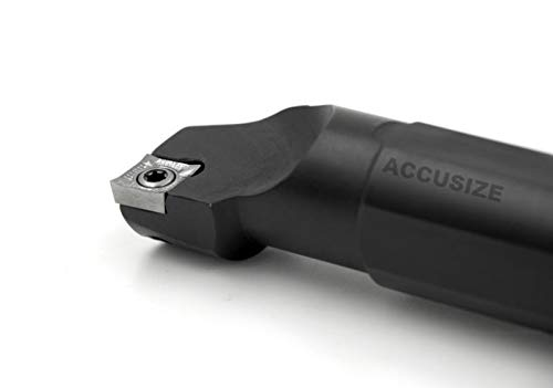 Accusize Industrial Tools 1 by 12 Rh Sclcr Indexable Boring Bar with Inserts Cutting Aluminum P252-S507ins