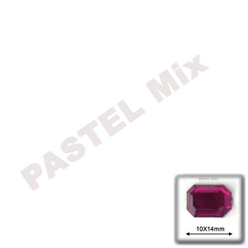 長方形の八角形クラフトアウトレット144品質アクリルアルミ箔フラットバックラインストーン、10by 14mm、パステルAssortmentの商品画像