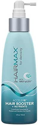 HairMax Density Acceler8 Hair Booster. Scientifically Formulated to Thicken and Transform Hair Health.