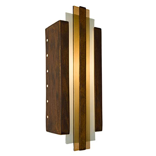 A19 Empire Wall Sconce, 4.5-Inch by 6.5-Inch by 18-Inch, Butternut/Caramel