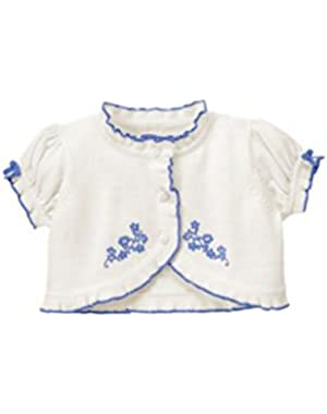 Short Sleeve Flower Cardigan by Gymboree