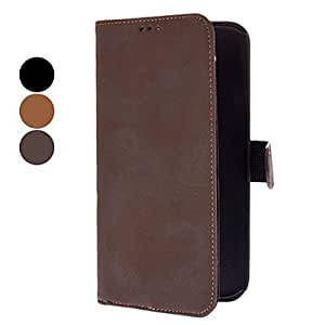 Buy Antique Style PU Leather Case with Card Slot for Samsung Galaxy Mega 5.8 I9150 (Assorted Colors) , Black