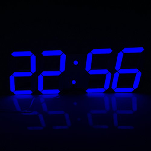 Mochiglory Jumbo Digital LED Wall Clock Multi Functional Remote Control Countdown Timer Temperature Date