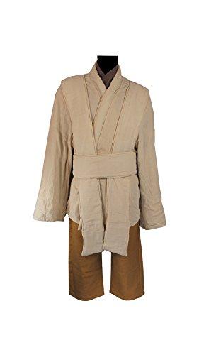 OBI Wan Kenobi Jedi Tunic Costume Star Wars Props Accessories (L) (Dark Jedi Costume)