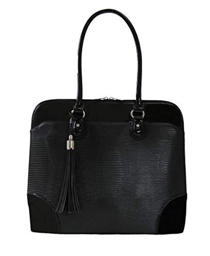 BFB Laptop Totes for Women – 13 Inch Laptop Shoulder Bag – Designer Handmade Handbag - Quality That's Made to Last - Black