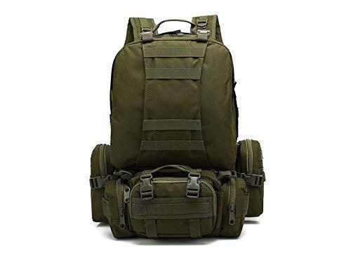 YChoice 軽量 ハイキング 旅行 バックパック アウトドア インドア 50L 多機能 組み合わせ バックパック 大容量 ハイキング クライミング バッグ (アーミーグリーン) B07LF6RRBZ
