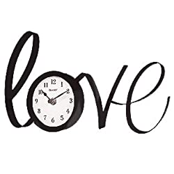 13 Love Metal Clock in Black- (There's Always Time for Love)