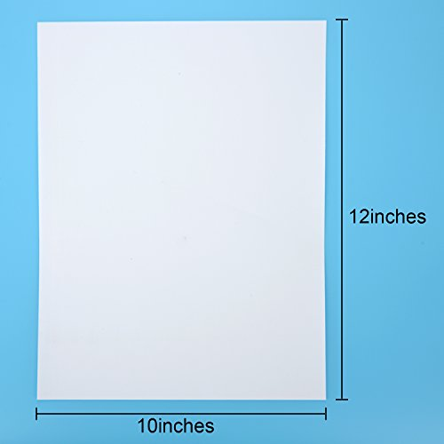 [해외]Outus PU 열전 사 비닐 용지 철제 시트 HTV, 흰색, 12x10 인치, 3 개/Outus PU Heat Transfer Vinyl Papers Iron-on Sheet HTV, White, 12 by 10 I