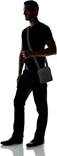 bolsos y cm Black Hombre x 3x19x16 Calvin H T Logo Shoppers Klein Flat B de hombro Mini Raised Crossover Negro qOA0qw8Z