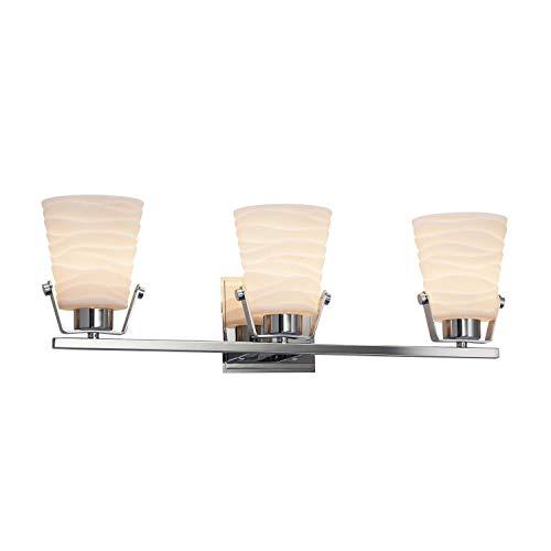 Justice Design Group Lighting PNA-8483-WAVE-CROM Nexus Bath Bar 8
