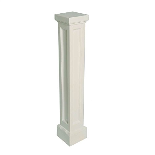 Bradford Pedestal Mailbox Post in White ()