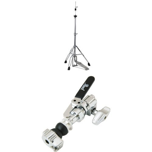 Pearl H830 Hi-Hat Stand, Demonator Style Long Footboard and Swivel Legs with Pearl DCL300P Drop Clutch, Felt Washers, Lock ()