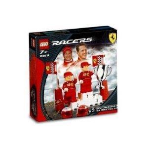 LEGO RACERS FERRARI SET #8389 MICHAEL SCHUMACHER & RUBENS BARRICHELLO