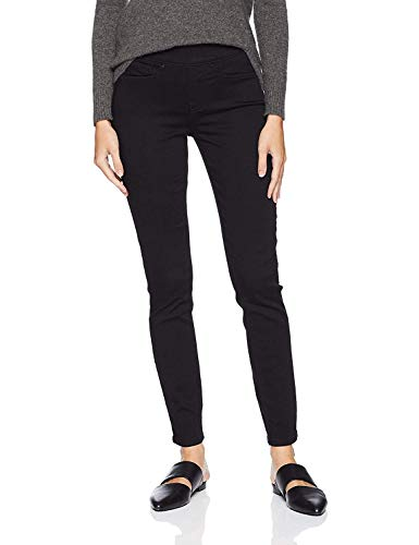 Signature by Levi Strauss & Co. Gold Label Women's Totally Shaping Pull-On Skinny Jeans, Noir, 14 Medium