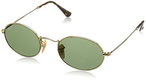 Ray-Ban Metal Unisex Round Sunglasses, Gold, 51 - Ray Ban Round Lenses Sunglasses
