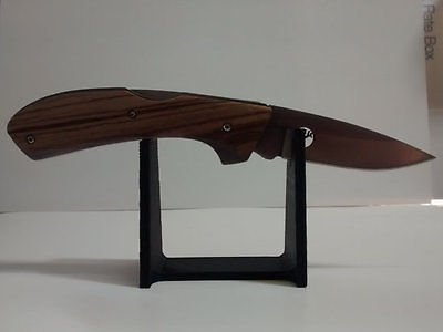 Plastic One Knife Display Stand for One Folding / Pocket Single Knife Display - Economy Shipping Usps