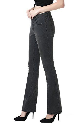 phistic Women's Ultra Stretch Gray Modern Bootcut Jeans - 27 - Grey Bootcut Jean