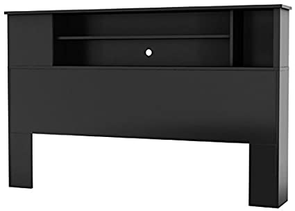 South Shore Vito Bookcase Headboard With Storage, Full/Queen 54/60 Inch