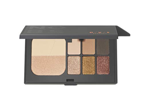 P/Y/T BEAUTY Day to Night Eyeshadow Palette, Shimmer Eyeshadow and Matte Eyeshadow Shades, Long Lasting, Hypoallergenic, Paraben Free, Cruelty Free, 4.5 oz, 1 Count
