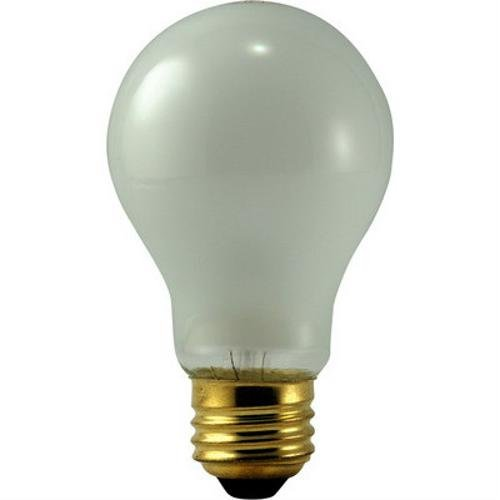 Eiko 100A/RS, 130V 100W - Inside Frost A-19 Medium Base - Rough Service Light Bulb (Pack of 50)