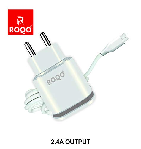 ROQO Fast Charger ADAPETER for Android MOBLIE  with Data Cable