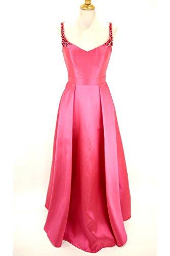 2 Satinado 6 Rosa Vestido Cariño Uk Mc161072p us Mascara Fucsia nFvqWBvf