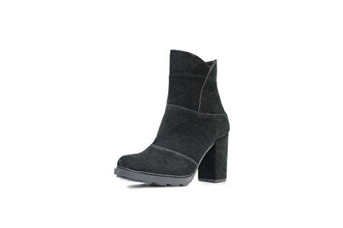 Scarpe Con Tacco Medio Di N & K London Venus, Stivali Da Donna E Ankle Boots Neri
