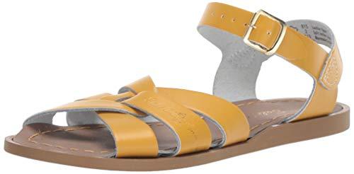 Salt Water Sandals by Hoy Shoes Girls The Original Sandal (Big Kid/Adult) Mustard 6 M US Big Kid