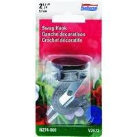 National Hardware N274-860 V2672 Swag Hook in (Black Ceiling Hook)