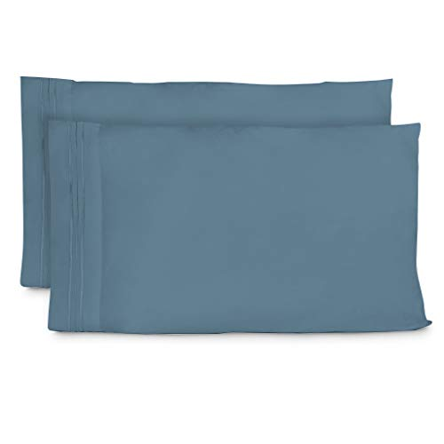 Cosy House Collection Pillowcases Standard Size - Peacock Blue Luxury Pillow Case Set of 2 - Fits Queen Size Pillows - Premium Super Soft Hotel Quality - Cool & Wrinkle Free - Hypoallergenic ()