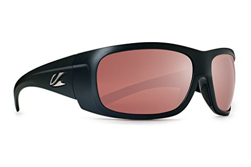 Kaenon Polarized Cliff Sunglasses - Matte Black Frame - Copper C-12 Silver Mirror Lens