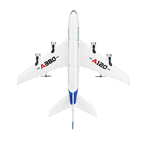 Scale Fuselage - Really GO-US Direct A120-A380 Airbus 510 mm Wingspan 2.4GHz 3CH RC EPP ABS Airplane Fixed Wing RTF with Mode 2 Remote Controller Scale Aeromodelling Default Fuselage 18.9 Inch
