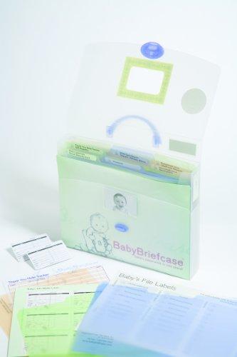 Baby Briefcase Baby Paperwork Organizer, Mint/Periwinkle