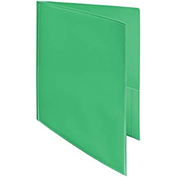 Amazon Com Ultra Pro 10 Pack Green 2 Pocket Folder