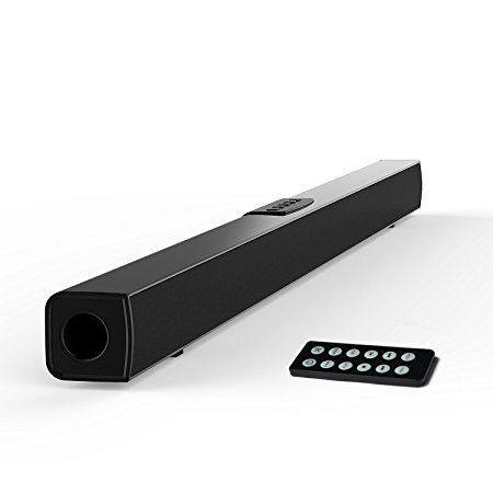 TV Sound Bar, Meidong Bluetooth Soundbar with Remote Control, 36 inch 2.0 Channel Home Theater Speakers, Wireless and Wired Bluetooth Audio Speakers for TV/PC/Phones/Tablets/Echo dot by meidong