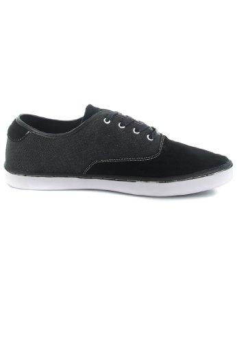 Boras - Zapatos de cordones de tela para hombre negro negro