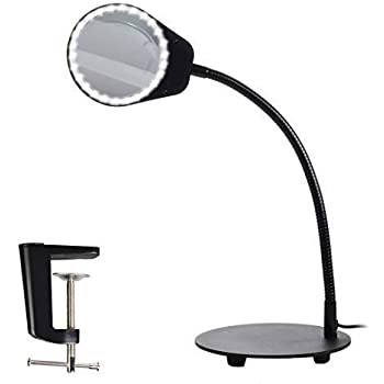 Eurotool Reading Lamp Illumination Magnifier Glass With