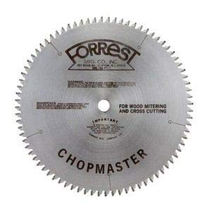 Forrest CM12806115 Chopmaster 12-Inch 80-tooth ATB Miter Saw Blade with 1-Inch -