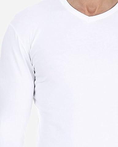 Herren Unterhemd mit V- Ausschnitte Cotton Stretch- Komfortabel Herren Unterhemden,Warm Lang/ärmeliges T-Shirt Farben und Gr/ö/ßen Wich SOLO/® Long Sleeve Elastische Baumwolle