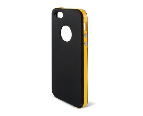KSIX Orange Coque hybride rigide pour iPhone 5 Noir