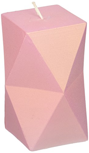 Candellana Candles - Geometric Candle- Pinkish by Candellana Candles