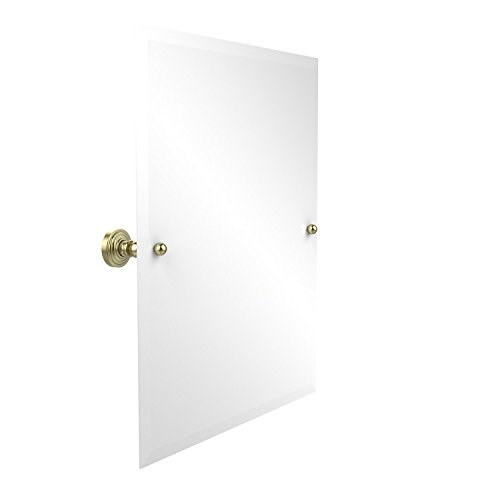Allied Brass WP-92-SBR Frameless Rectangular Tilt Mirror with Beveled Edge Satin Brass
