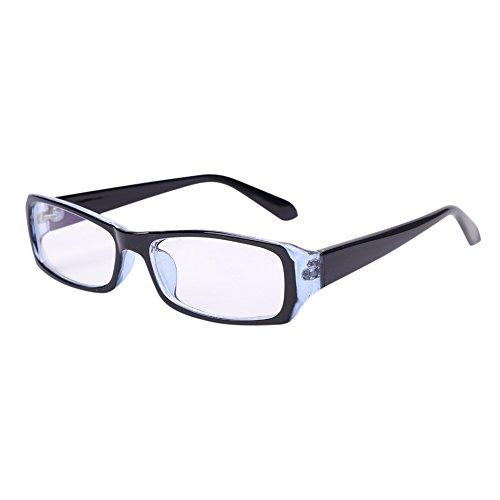 Women Men Eyeglasses Blue Light Blocking Computer Glasses Anti Eye Strain UV Black Frame Reading Glasses Teenager Anti-Glare Anti-Reflective Anti-Fatigue TV Electromagnetic Radiation Protection
