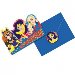DC Girls 8ct Invitation Card -