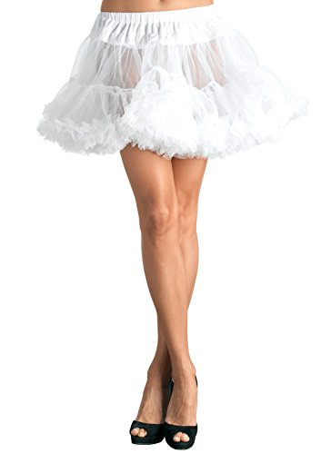 Leg Avenue Women's Petticoat Dress, White, One (White Pettiskirt)
