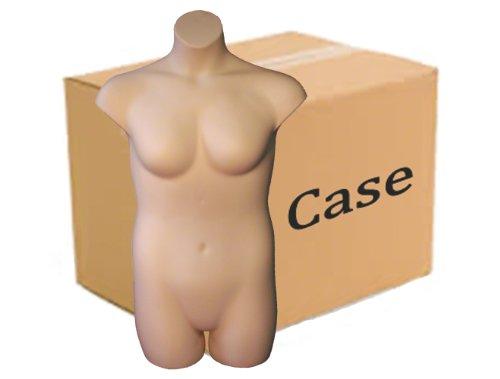 Plus Size 3/4 Form - Female, Case of 3, Fleshtone